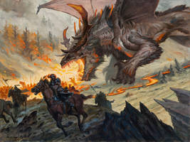 Harbinger of the Hunt - Magic the Gathering by AaronMiller