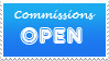 Commissions Open Stamp by Thunderflight