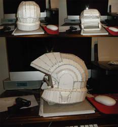 Halo 3 Marine Helmet Pepakura by FuzzBallGanther
