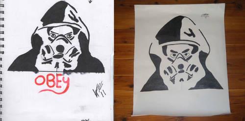 Gas mask poster by FuzzBallGanther