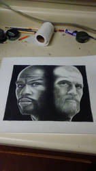 Drawing Conor McGregor  and Floyd Mayweather by cdudley25