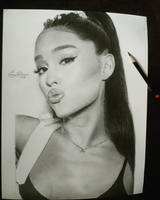 Drawing of Ariana Grande by cdudley25