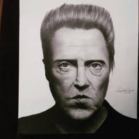 Drawing Christopher Walken by cdudley25