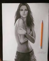 Drawing of Kendall Jenner by cdudley25