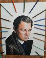 Drawing Leonardo DiCaprio by cdudley25