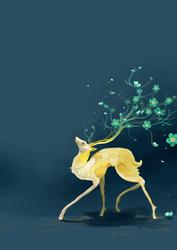Deer by FoxyKitsuChan