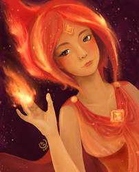 Flame Princess by FoxyKitsuChan