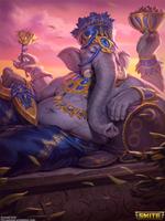 SMITE - Ganesha Gold Skin by ForrestImel