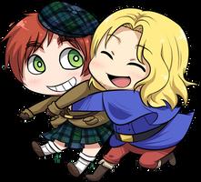 chibi scotland + france by NuhFanik