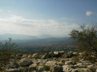 View from Mycenae by Ivienn