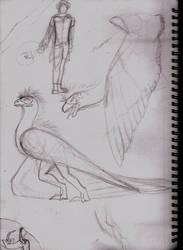 Pheoraxas sketches by Hellsingswinged