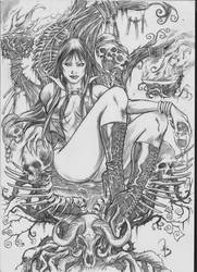 Vampirella sketchs sample by Adrianohq