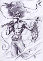 Afro samurai by Adrianohq