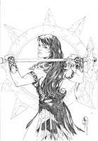 Xena Cover_penciler by Adrianohq