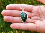 Malachite necklace by jessy25522
