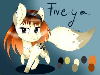 New OC-Freya Pony Fox by KatherineVi