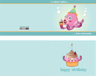 Birthday Card Octopus by jmanggala