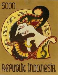 Wayang Stamp by jmanggala