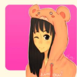 Bear hoodie by digi775