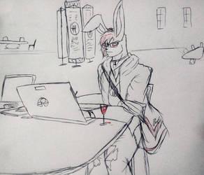 Study Bunny by WhiteTigerRO