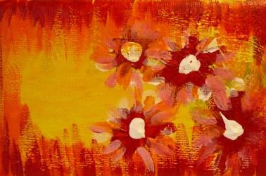 Orange flowers by Rozzi-dk
