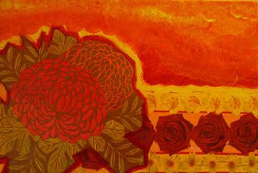 Napkin Flowers by Rozzi-dk