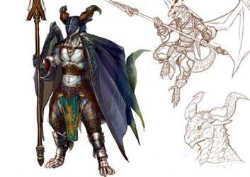 The dragon of a lancer by koutanagamori