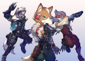 Star Fox  team by koutanagamori