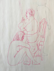 Figure drawings from class by lentilsoupp