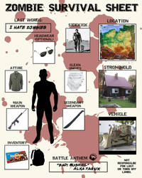 Zombie Survival Sheet by Myrth1