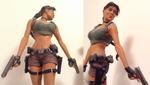 Lara croft statue ipad 2 by lussybussy