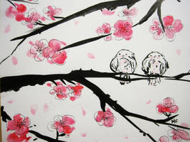 Sakura birds by Dee-dee15