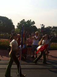 Marching Down Main Street USA in the Magic Kingdom by SailorMoon190