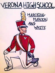 Verona High School Marching Maroon and White by SailorMoon190