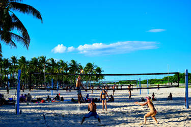 Beach volley in Miami by jziani