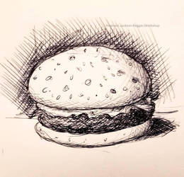 Inktober (Day 20) Burger by ReggieJWorkshop