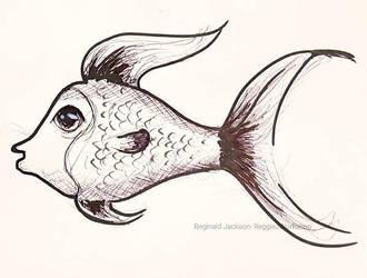 Inktober (Day 29) Fish by ReggieJWorkshop