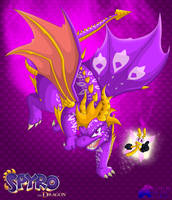 Spyro - Rebirth Purple Dragon by Djermegandre-the-God