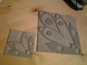 Carved Block Prints by Konatasaurus