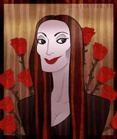 Morticia Addams by Kritzelkrams