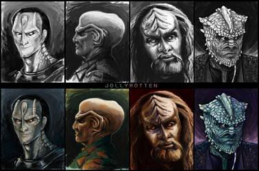 Star Trek Aliens by Kritzelkrams