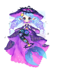 Space Mermaid | Fairy Vial by ViPOP
