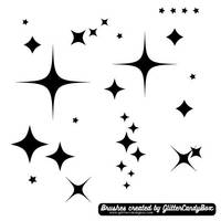 GCB Star Brushes 2 - Sparkles by glittercandybox