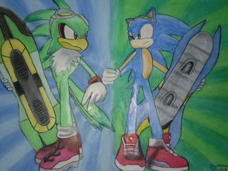Sonic and Jet -Sonic riders- by raptorthekiller