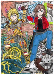 Shulk and Zael -Xenoblade and The last story- by raptorthekiller