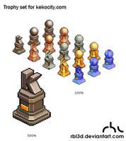 Trophies for Kekocity.com by rbl3d