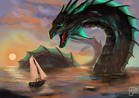 Water Dragon by SkoglundP