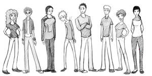 Civvies Lineup by Jiori-Seth