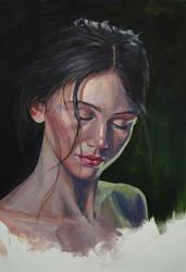 Gouache portrait study by PLatiNumkinG1993