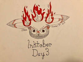 Inktober Day 3: Roasted by Glacie-the-Glaceon